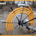 A Water Wheel Pump In Action
