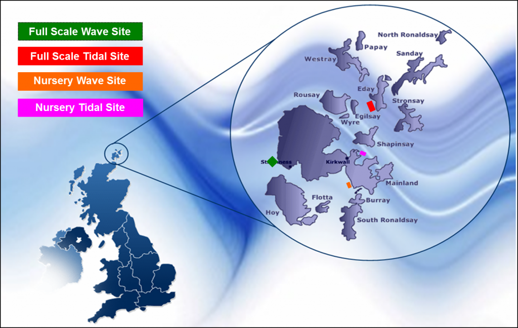 Nothern Scotland Tidal and wave sites