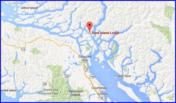 Dent Island Tidal Map