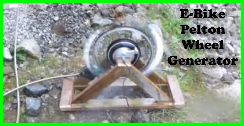 E-Bike Pelton Wheel Generator