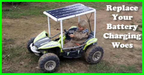 Solar Powered Kids Car