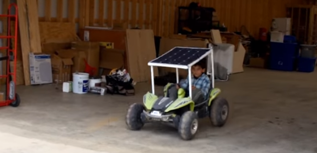 this is actually a really simple project and the video on the next page will walk you through the parts you need and how to build a solar powered kids car