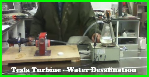 Tesla Turbine Used In Water Desalination
