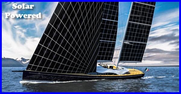 solar powered sailing yacht helios