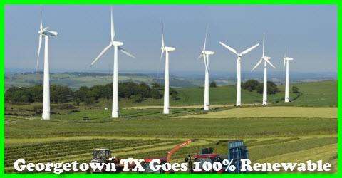 Georgetown TX 100% Renewable